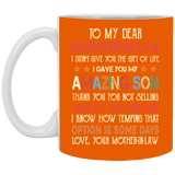 To My Dear Daughter-In-Law Colorful Mug - Valentine's Day Gift