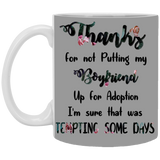 Good Gift For Mother Of Boyfriend - Thank You Mug - Christmas Gift For Couples