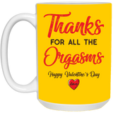 Thanks For All The Orgasms - Personalised Valentine Gifts For Him - Christmas Gift For Couples