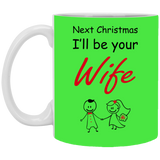Best Valentines Gift For Fiance Male - Funny Future Wife Mug - Valentine's Day Gift