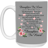 Flower Mugs For Daughter In Law - Valentine's Day Gift