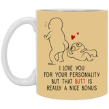 I Love You For Your Personality - But That Butt Is Really A Nice Bonus - Christmas Gift For Couples