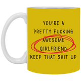 Pretty Fucking Awesome Girlfriend Her - Funny Gift From Boyfriend Fiance - Christmas Gift For Couples