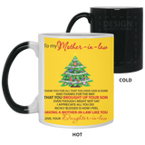 To My Mother In law - Christmas Tree Mug - Valentine's Day Gift