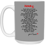 Couples Mugs For Fiance And Fiancee Honey - Christmas Gift For Couples