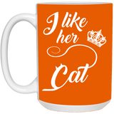Matching Couples Mugs - I Like Her Cat - Christmas Gift For Couples