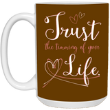 Couples Mugs For Fiance And Fiancee - Trust The Timing Of Your Life - Christmas Gift For Couples