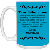 Thank You Father In Law Mug - Christmas Gift For Couples