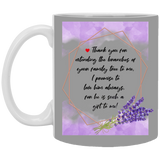 Lavender Mug For Parents-in-law - Christmas Gift For Couples