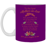 To The Best Mother In Law Mug - Christmas Gift For Couples