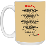 Couples Mugs For Fiance And Fiancee Honey - Magic Proposal