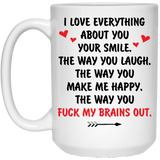 Fuck My Brains Out - Funny Valentines Surprise For Him - Christmas Gift For Couples