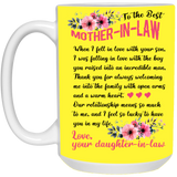 Touching Gift Ideas For Mother-in-law - To The Best Mother In Law Mug - Valentine's Day Gift