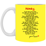 Couples Mugs For Fiance And Fiancee Honey - Valentine's Day Gift