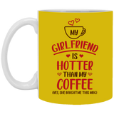 My Girlfriend Is Hotter Than My Coffee - Funny Valentines Gift For Boyfriend Him - Magic Proposal