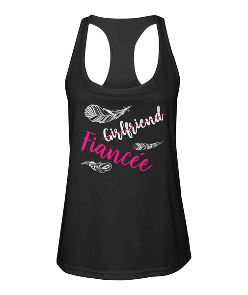 Fiancee Female Romantic Gift Ideas - Feathers Girlfriend Tank Top - Christmas Gift For Couples