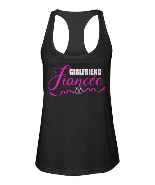 Fiancee Female Romantic gift - Double Ring Girlfriend Fiancée Tank Top - Valentine's Day Gift