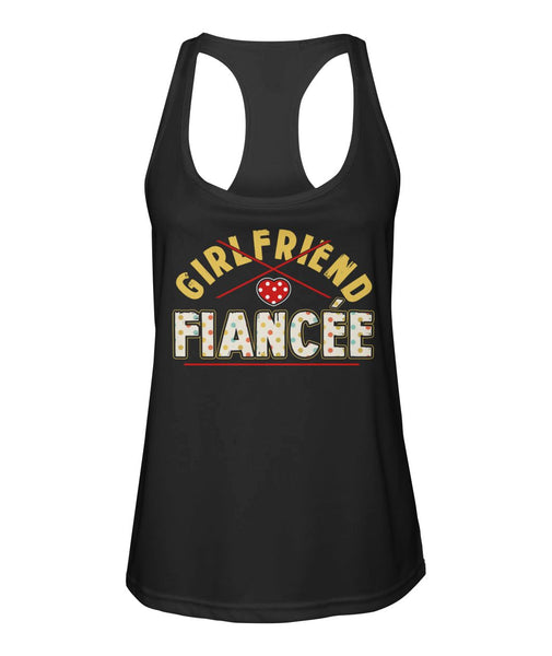 Fiancee Female Romantic Gift For Her - Yellow Dot Fiancée Tank Top - Valentine's Day Gift