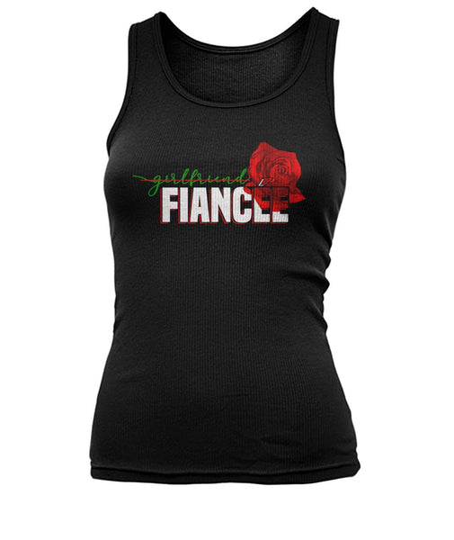 Fiancee Female Romantic Gift Ideas For Her - Rose Tank Top - Christmas Gift For Couples