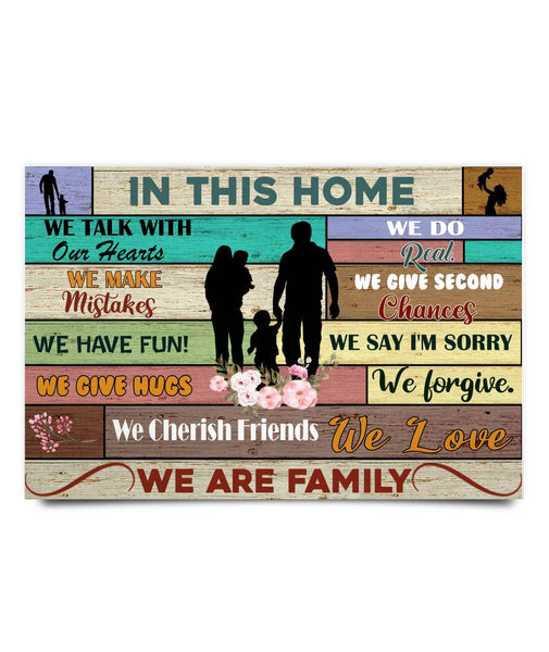 Meaningful Gift Ideas - We Are Family Poster - Christmas Gift For Couples