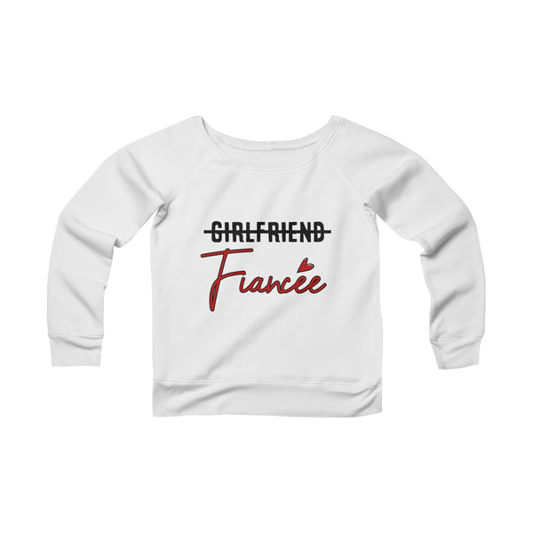 Girlfriend Fiancee Off-shoulder Sweatshirt - Valentine's Day Gift