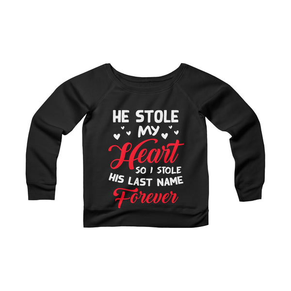 He Stole My Heart Off-shoulder Sweatshirt - Christmas Gift For Couples