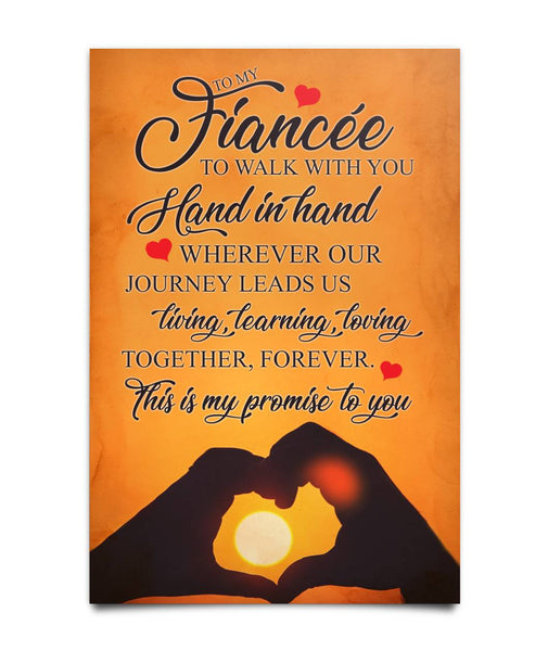 To my Fiancée  Poster - Christmas Gift For Couples
