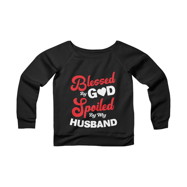 Blessed By God Off-shoulder Sweatshirt - Valentine's Day Gift