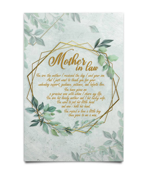 Mothers-In-Law Green Poster - Christmas Gift For Couples