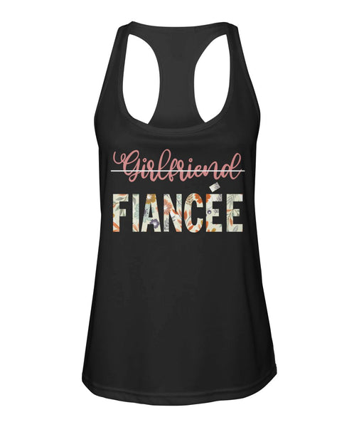 Fiancee Female Best Gift Ideas For Her - Girlfriend Fiancée Tank Top - Magic Proposal