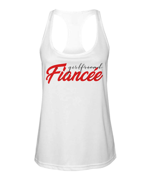 Fiancee Female Best Gift Ideas For Her - Red Fiancée Tank Top - Christmas Gift For Couples