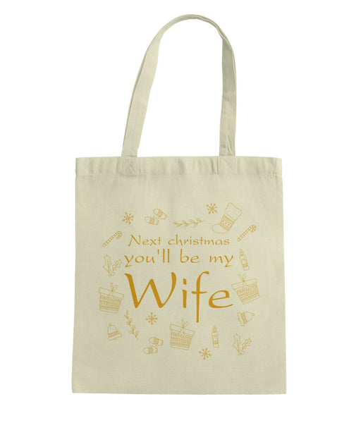 Gift For Fiancee Tote Bag - Christmas Proposal Gift