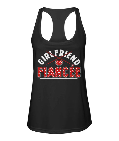 Fiancee Female Romantic Gift For Her - Red Dot Fiancée Tank Top - Magic Proposal