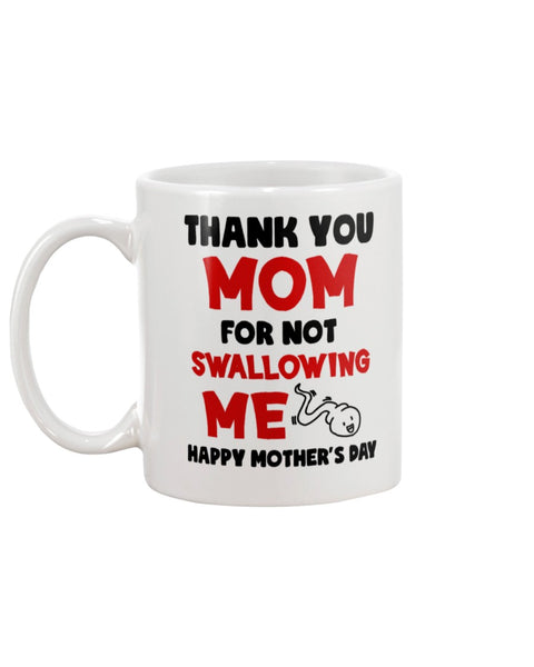 Thanks For Not Swallowing Me Mug - Christmas Gift For Couples
