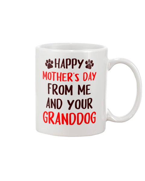 Happy Mother's Day From Me And Granddog - Christmas Gift For Couples
