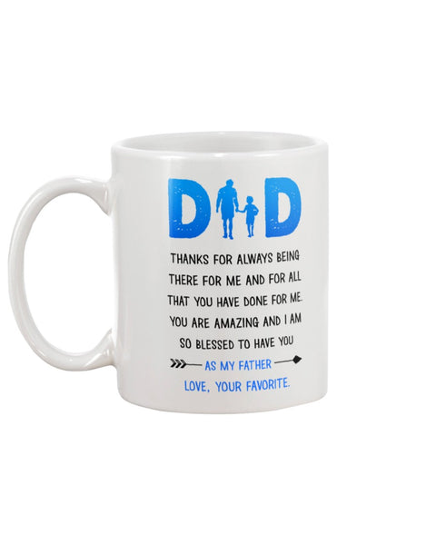 Dad Thanks For Being There - Christmas Gift For Couples