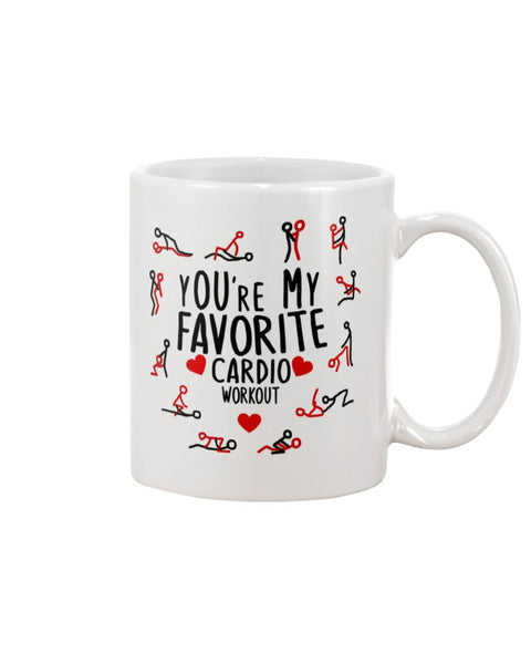 You're My Favorite Cardio Workout Mug - Christmas Gift For Couples
