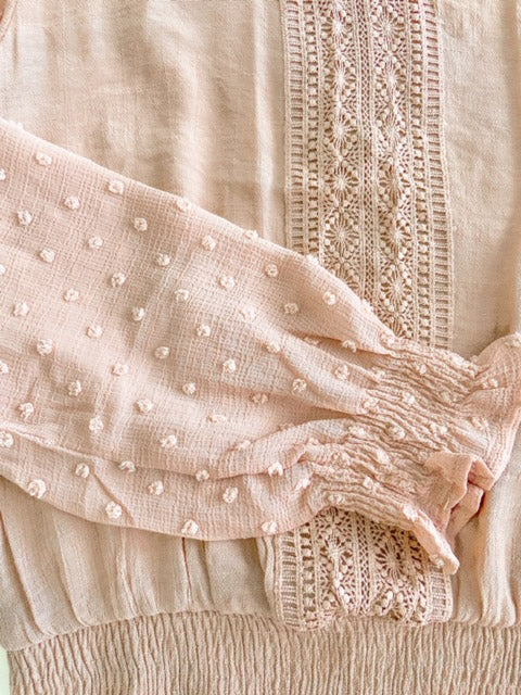 Charm crochet trim blouse