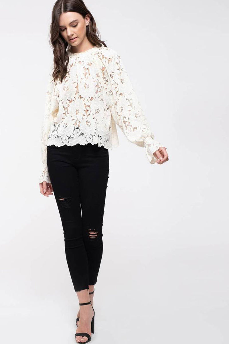 Lucky in love Stretch lace blouse
