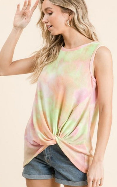 womens tie dye tank top