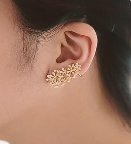 ear crawler ear jacket rose gold bohemian jewelry