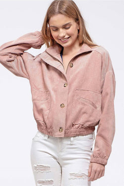 Dusty Pink Corduroy Jacket