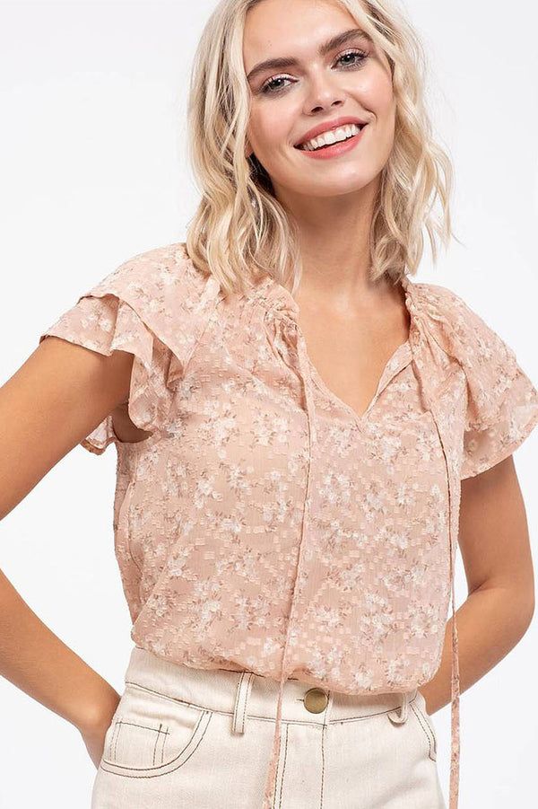Peach blossom top