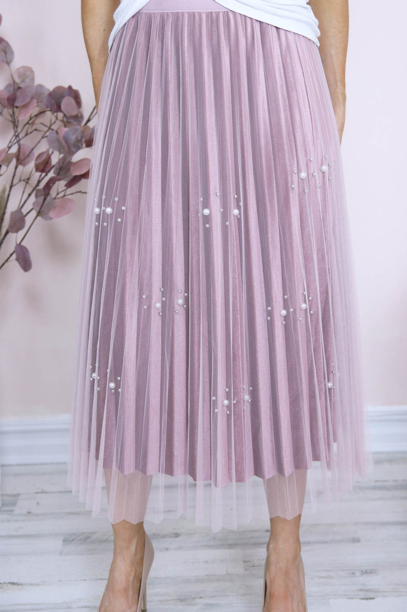 Rhapsody pleated tulle skirt