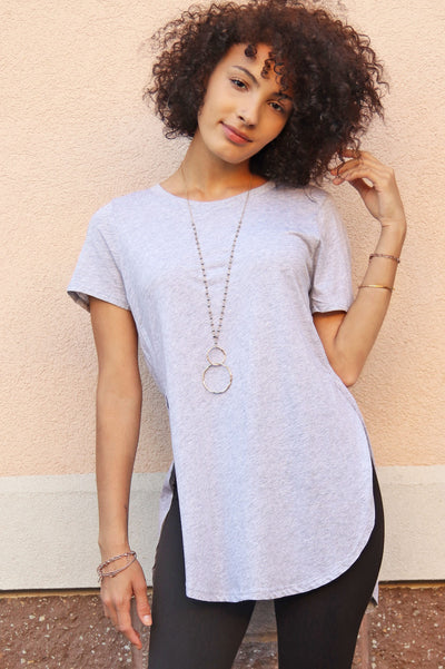long tunic legging tee heather grey