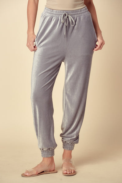 ribbed velour jogger