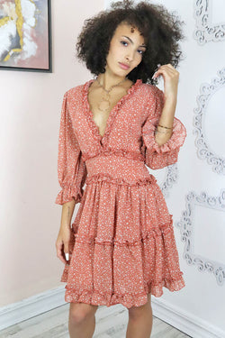 ruffle layered swing dress