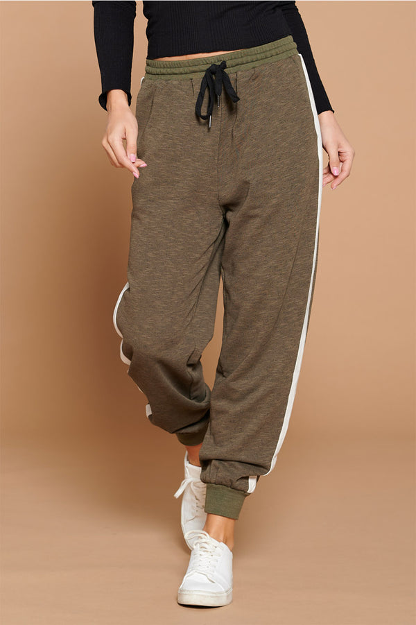 SIDE STRIPE FRENCH TERRY JOGGER PANT