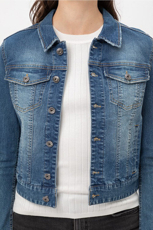 womens classic stretch denim jean jacket