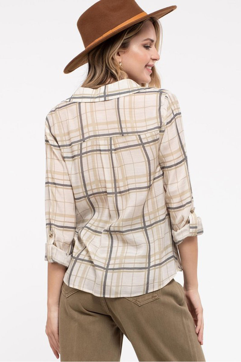 womens plaid top